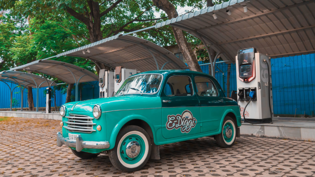 World's First Electrified Vintage 1954 Fiat Millecento